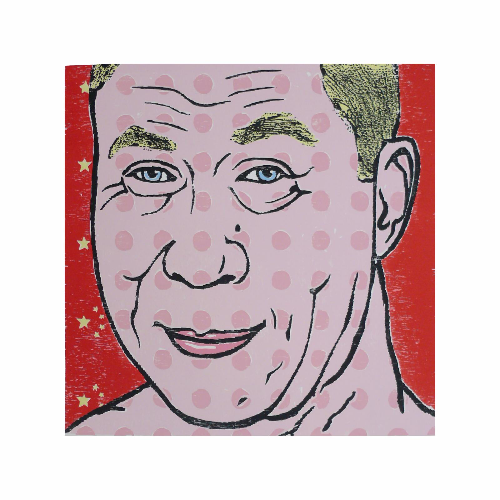 Thomas Rissler, POP 2 - 4, 2003, Holzschnitte 5-8 Farben, Papierformat 70 cm x 70 cm, geringe Stückzahl