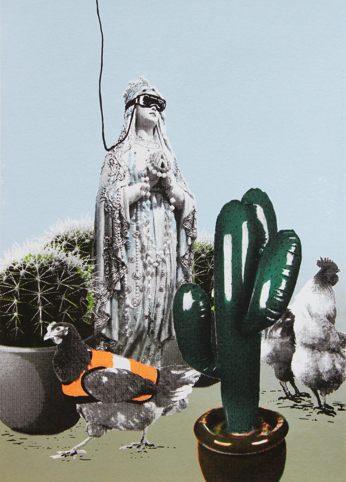Karin Brosa, Virtual reality, 2018, Serigraphie, 42 cm x 30 cm, Auflage 13,  Nur noch wenige Exemplare!