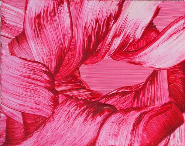 Isa Dahl, borst, hugs and flowers, Öl auf Holz, 24 cm x 30 cm x 4 cm, SWG32