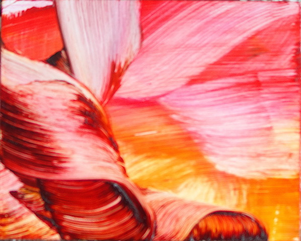 Isa Dahl, borst, hugs and flowers, Öl auf Holz, 24 cm x 30 cm x 4 cm, SWG51