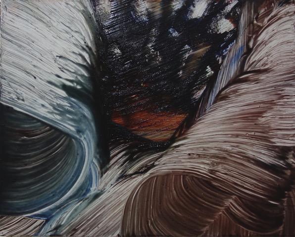 Isa Dahl, borst, hugs and flowers, Öl auf Holz, 24 cm x 30 cm x 4 cm, SWG58