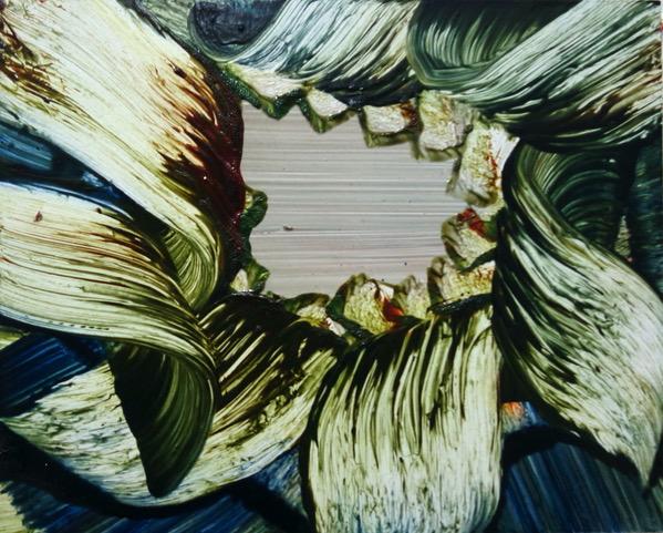 Isa Dahl, borst, hugs and flowers, Öl auf Holz, 24 cm x 30 cm x 4 cm, SWG59