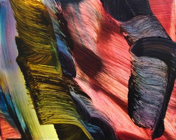Isa Dahl, borst, hugs and flowers, Öl auf Holz, 24 cm x 30 cm x 4 cm, SWG69