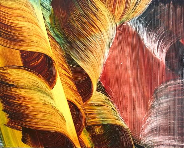 Isa Dahl, borst, hugs and flowers, Öl auf Holz, 24 cm x 30 cm x 4 cm, SWG75