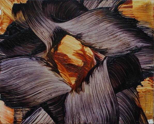 Isa Dahl, borst, hugs and flowers, Öl auf Holz, 24 cm x 30 cm x 4 cm, SWG8