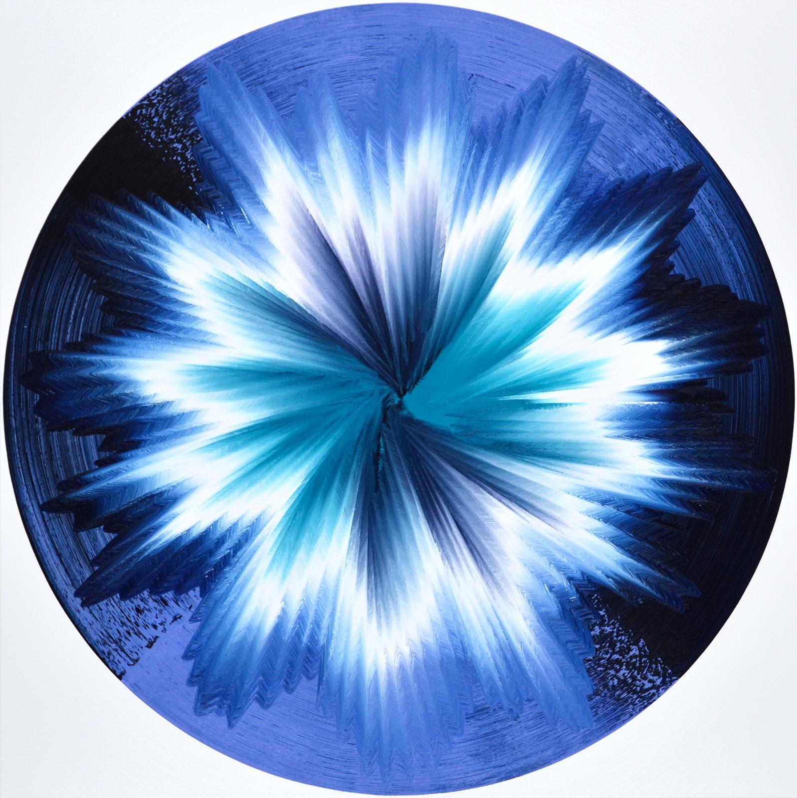 Vera Leutloff Circular Oszillation: Fjord 2020 Öl auf Leinwand 120 cm x 120 cm Preis auf Anfrage, lev001de