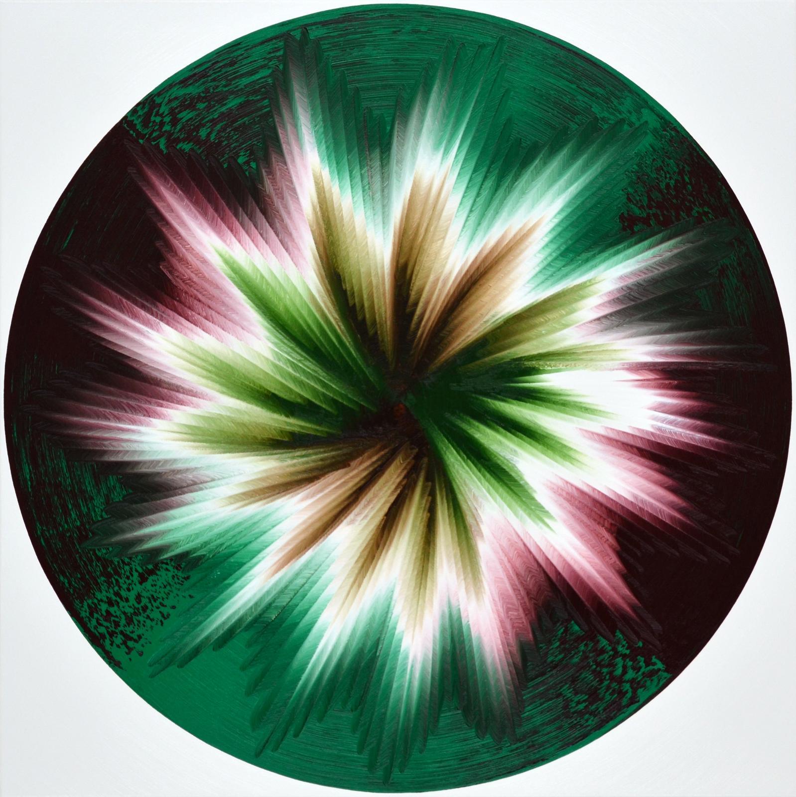 Vera Leutloff Circular Oszillation: Park 2020 Öl auf Leinwand 100 cm x 100 cm Preis auf Anfrage, lev004de