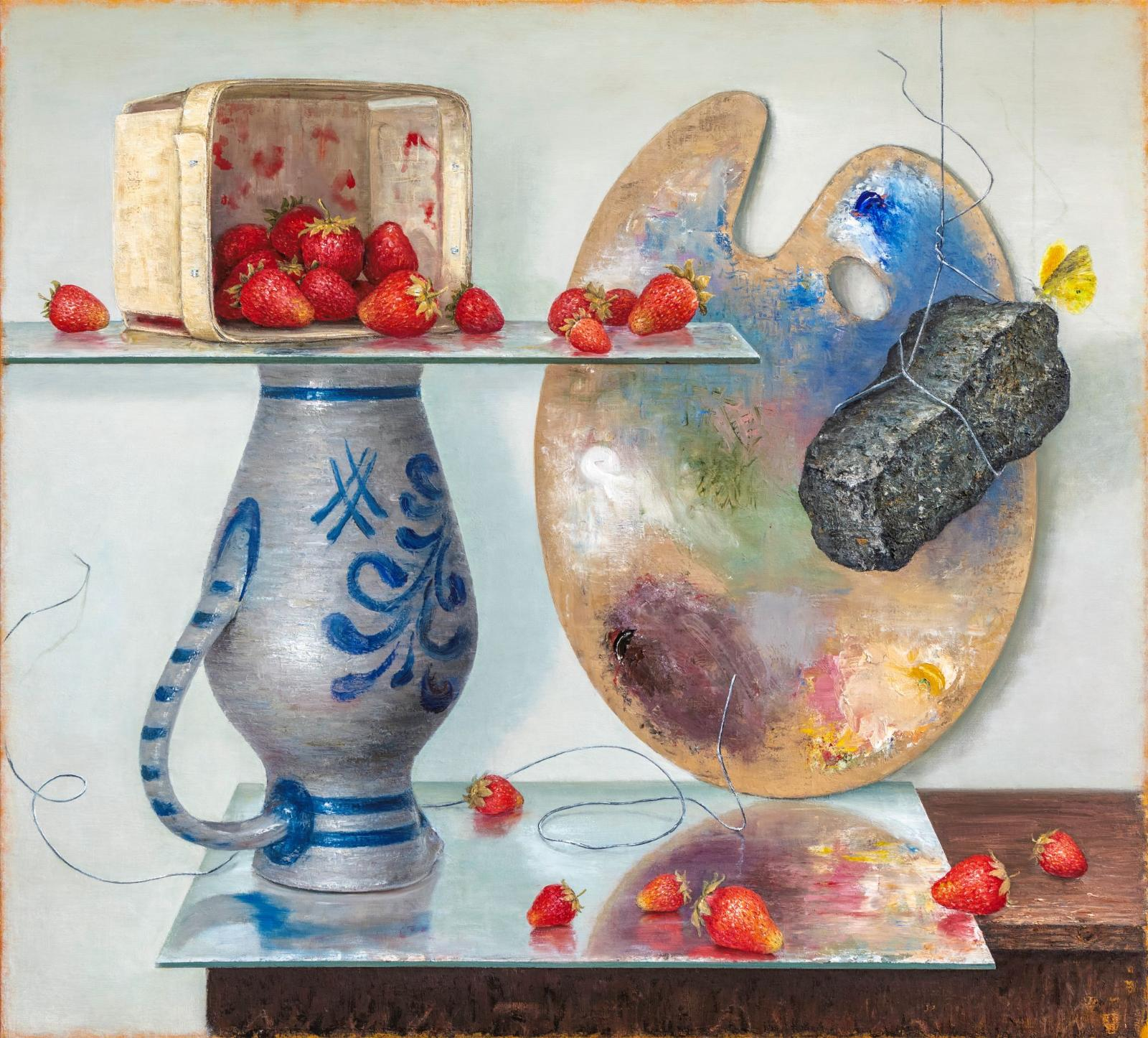 Mirko Schallenberg, Morphe, 2019, Öl auf Leinwand, 146 cm × 160 cm