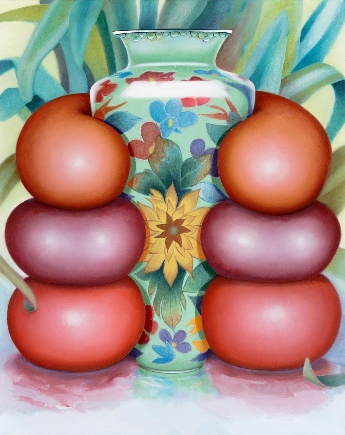 Mona Broschar, Symmetrie, 2019, Acryl und Öl auf Leinwand, 100 x 80 cm, brm006ko