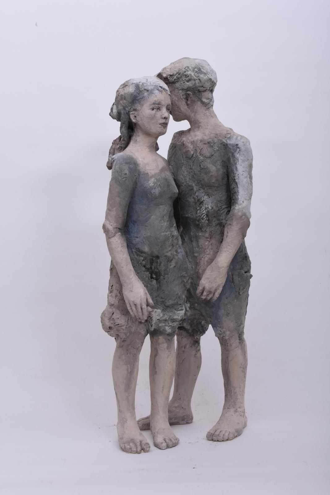 Silvia Siemes, Wohin wir gehen, 2019, Terrakotta, gebrannt, Höhe: 87 cm, sis001de