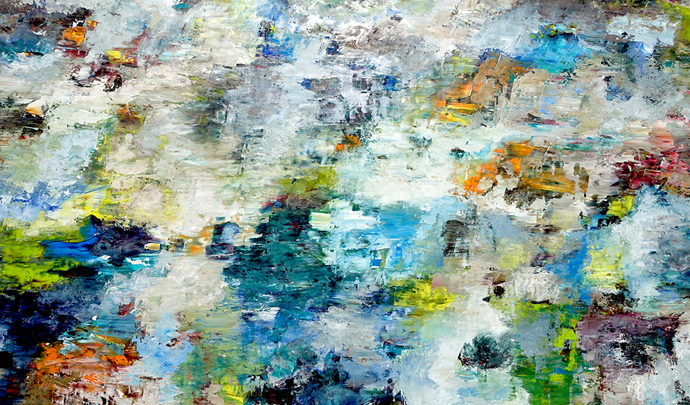 Rudi Weiss, Lago, 12.2017, Öl auf Leinwand, 100 cm x 175 cm, wer049ko