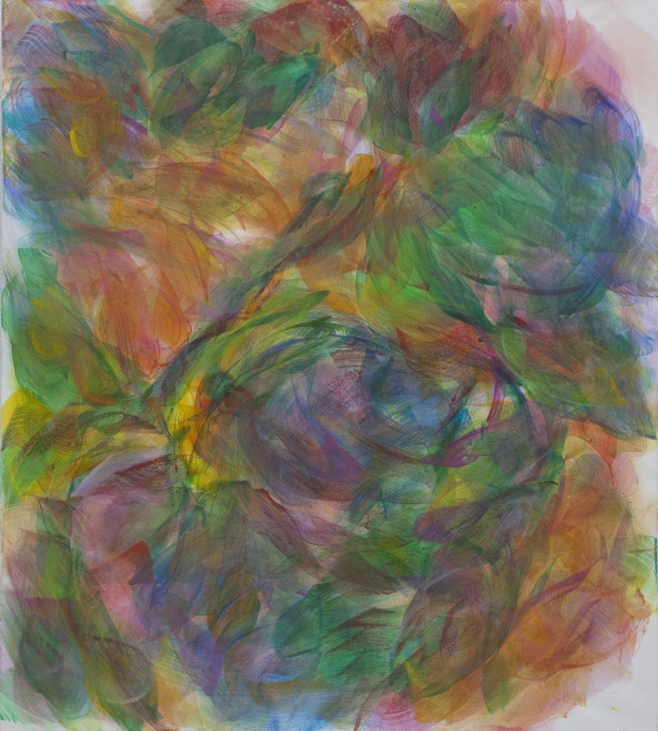 Hanspeter Münch, Indian wedding VII, 2018, Acryl auf Leinwand, 155 x 135cm
