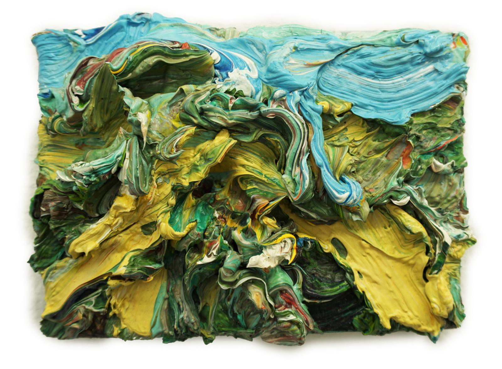 Harry Meyer, Schnee, 2010, Öl auf Leinwand, 13 x 18cm, meh006ko