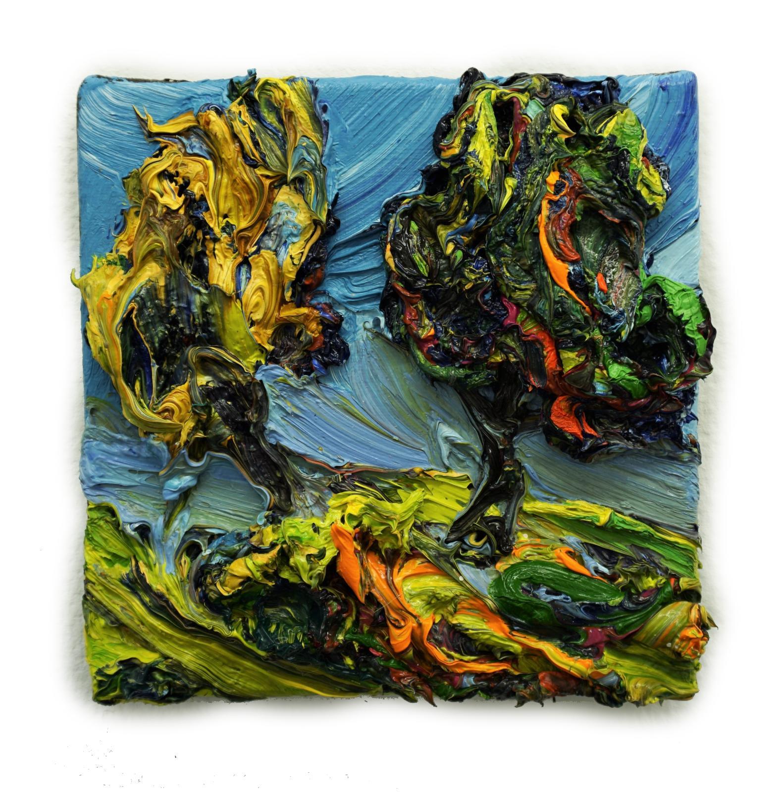 Harry Meyer, Baum, 2020, Öl auf Leinwand, 20 x 20cm, meh004ko