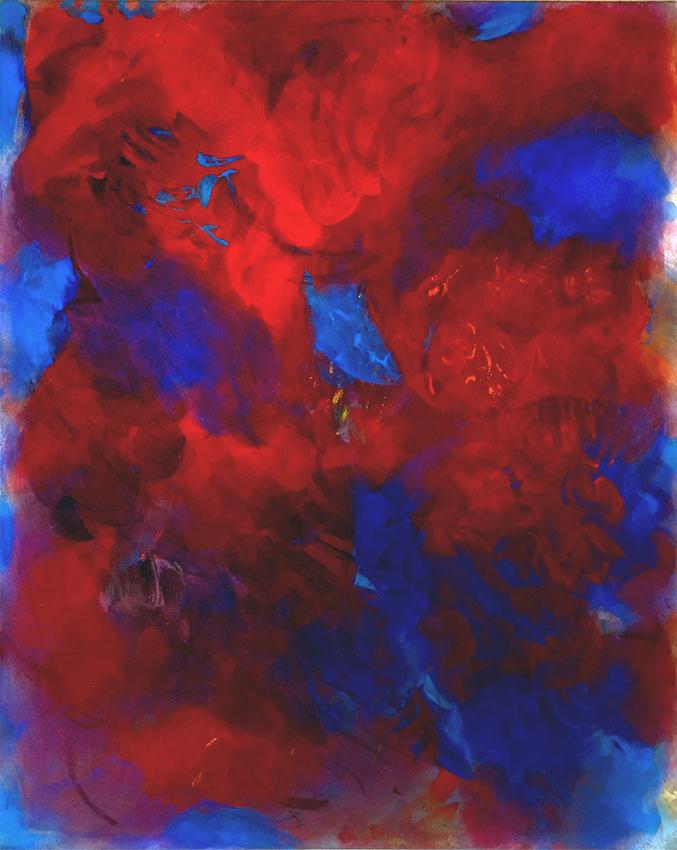 Hanspeter Münch, Con fuoco, 2002, Acryl auf Leinwand, 200 x 160cm