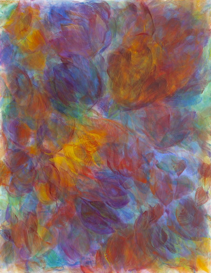 Hanspeter Münch, Les fleurs que tu m'as offert,  1/2017, Acryl auf Leinwand, 175x135cm