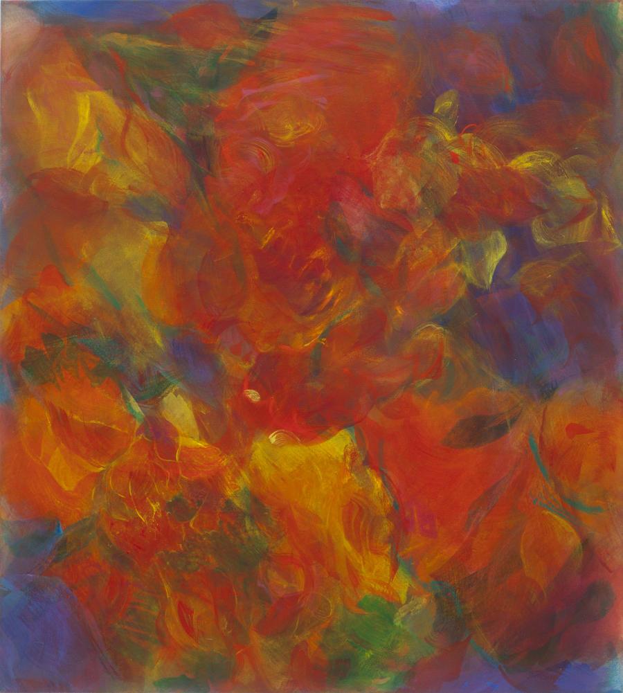 Hanspeter Münch, Modulation, 3/2003, Tempera/Öl auf Leinwand, 145x130 cm