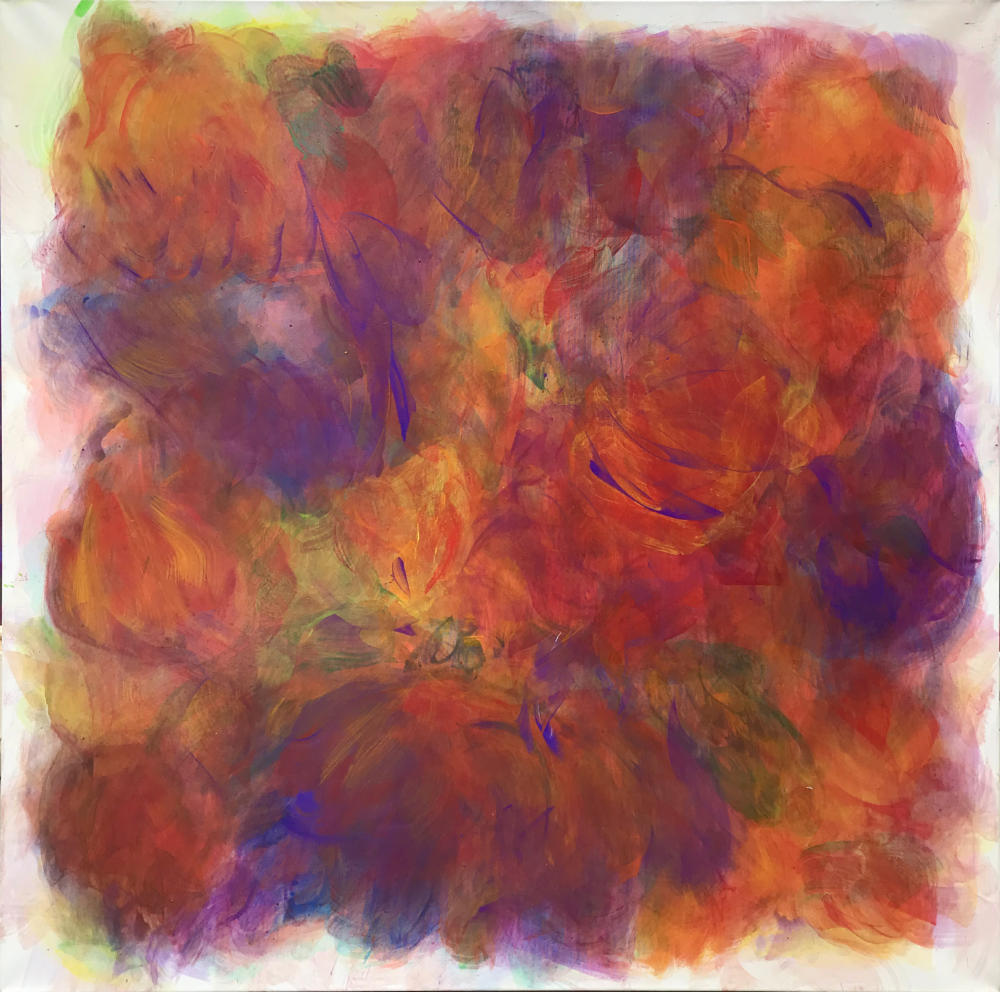 Hanspeter Münch, Ohne Titel, 5/2014/2019, Acryl auf Leinwand,150x150cm