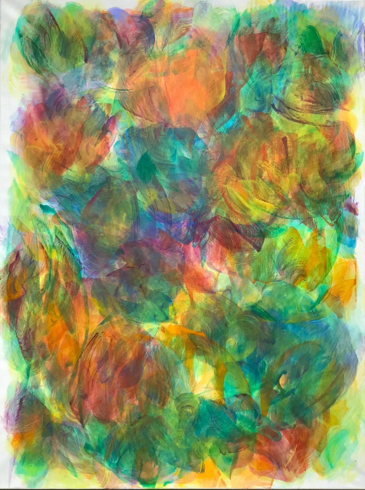 Hanspeter Münch, Ohne Titel, 11/2017, Acryl auf Leinwand, 175x135cm
